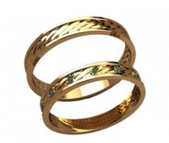 Кольца на свадьбу парные артикул: 20026 - пара