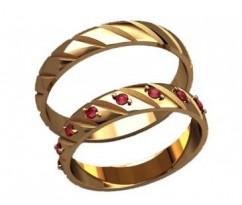 Кольца на свадьбу парные артикул: 20027 - пара