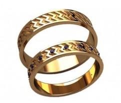 Кольца на свадьбу парные артикул: 20028 - пара