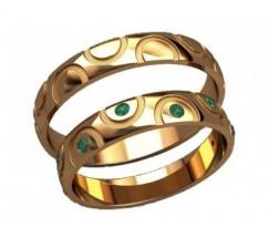 Кольца на свадьбу парные артикул: 20029 - пара