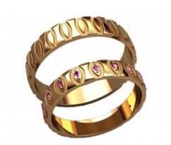 Кольца на свадьбу парные артикул: 20030 - пара