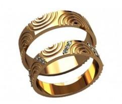 Кольца на свадьбу парные артикул: 20031 - пара
