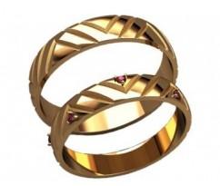 Кольца на свадьбу парные артикул: 20032 - пара