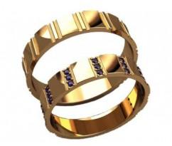 Кольца на свадьбу парные артикул: 20033 - пара