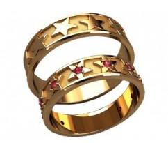 Кольца на свадьбу парные артикул: 20034 - пара