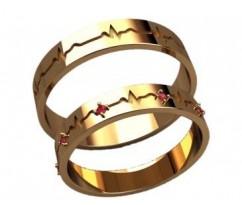 Кольца на свадьбу парные артикул: 20035 - пара