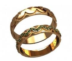 Кольца на свадьбу парные артикул: 20036 - пара