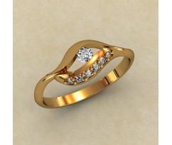 Женское кольцо индивидуальной обработки артикул: 0327