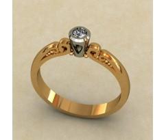 Кольцо для помолвки (выбор камня) артикул: 0331
