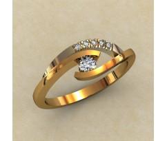 Кольцо для помолвки (выбор камня) артикул: 0332