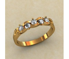Кольцо для помолвки (выбор камня) артикул: 0333