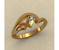 Кольцо для помолвки (выбор камня) артикул: 0334
