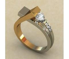 Кольцо для помолвки (выбор камня) артикул: 0335