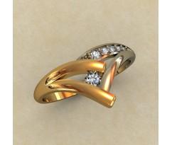 Кольцо для помолвки (выбор камня) артикул: 0336