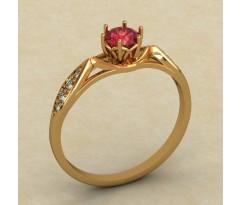 Кольцо для помолвки (выбор камня) артикул: 0337