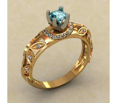 Кольцо для помолвки (выбор камня) артикул: 0339