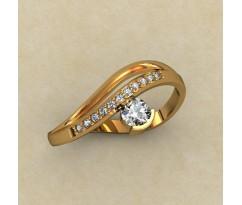 Кольцо для помолвки (выбор камня) артикул: 0340