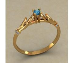 Кольцо для помолвки (выбор камня) артикул: 0501