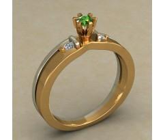Кольцо для помолвки (выбор камня) артикул: 0502