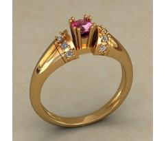 Кольцо для помолвки (выбор камня) артикул: 0504
