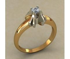 Кольцо для помолвки (выбор камня) артикул: 0505