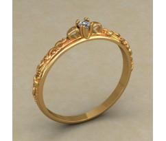 Кольцо для помолвки (выбор камня) артикул: 0506