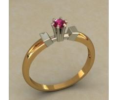 Кольцо для помолвки (выбор камня) артикул: 0507