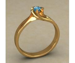 Кольцо для помолвки (выбор камня) артикул: 0509
