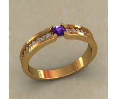Кольцо для помолвки (выбор камня) артикул: 0517