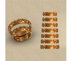 Авторские парные обручальные кольца  артикул: КВ-0761