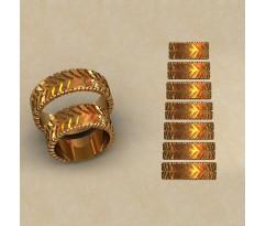 Авторские парные обручальные кольца  артикул: КВ-0763