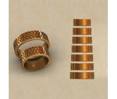 Авторские парные обручальные кольца  артикул: КВ-0764