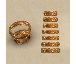 Авторские парные обручальные кольца  артикул: КВ-0765