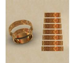 Авторские парные обручальные кольца  артикул: КВ-0768