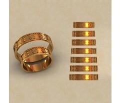 Авторские парные обручальные кольца  артикул: КВ-0770