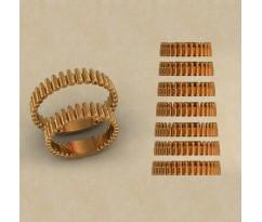 Авторские парные обручальные кольца  артикул: КВ-0772
