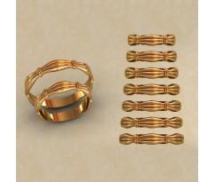 Авторские парные обручальные кольца  артикул: КВ-0773