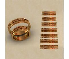 Авторские парные обручальные кольца  артикул: КВ-0775