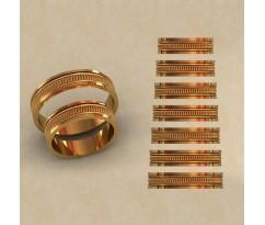 Авторские парные обручальные кольца  артикул: КВ-0776