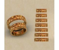 Авторские парные обручальные кольца  артикул: КВ-0778
