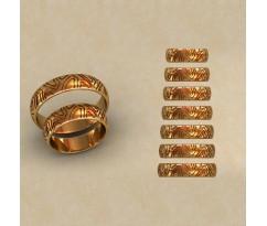 Авторские парные обручальные кольца  артикул: КВ-0781