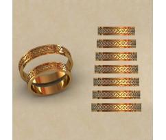 Авторские парные обручальные кольца  артикул: КВ-0785