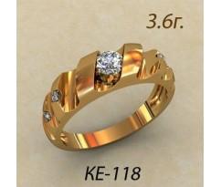 Помолвочное кольцо, ручная работа индивидуальное артикул: ке-118
