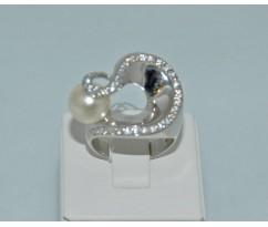 Серебрянное женское кольцо артикул: 60161