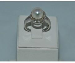 Серебрянное женское кольцо артикул: 60961