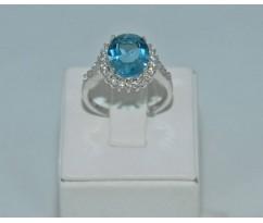 Серебрянное женское кольцо артикул: 62071