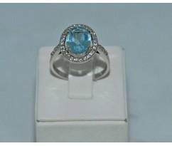 Серебрянное женское кольцо артикул: 62091