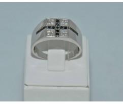 Серебрянное мужское кольцо артикул: 62401
