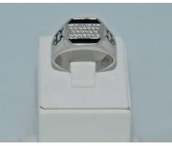 Серебрянное мужское кольцо артикул: 62421