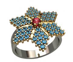 Массивное кольцо под заказ, ручная работа артикул: 1363